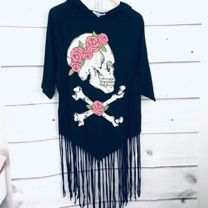 Wildfox fringed Oversized tunic